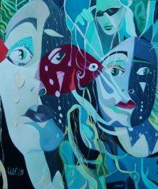 UNDINES LIED</br>Öl auf Leinwand, 140 x 120 cm, 2019