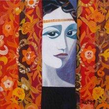 DULCINEA DEL TOBOSO</br>Oil on canvas, 50 x 50 cm, 2011
