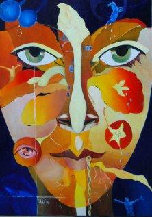 FLIEGE BEI RAUMEM WIND</br>Öl auf Leinwand, 140 x 100 cm, 2014