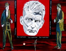 THE POWER OF CREATION (PORTRAIT SAMUEL BECKETT)</br >Mixed media on canvas, 70 x 90 cm, 2008