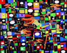 ABRAXAS</br>Acryl auf Leinwand, 80 x 100 cm, 2004