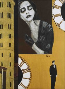 THE EXPECTATION</br>Mixed Media on canvas, 80 x 60 cm, 2007
