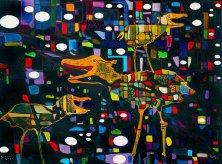 ARCHAEOPTERIX KOMIKOS</br>Acryl auf Leinwand, 50 x 70 cm, 2004