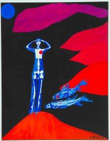 MUTIGER AUFBRUCH</br >Gouache auf Papier, 64,5 x 50 cm, 1974