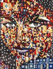 SCHEHERAZADE</br>Mixed media on canvas, 90 x 70 cm, 2006