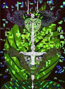 SPIRIT OF THE PLANT</br >Acrylic on canvas, 140 x 100 cm, 2008