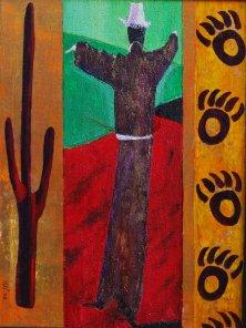 DANCING SHAMAN</br >Mixed media on canvas, 80 x 60 cm, 2008