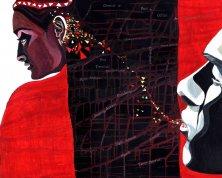 TELEPATHIE</br>Acryl auf Leinwand, 80 x 100 cm, 2004