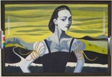 DIE SCHÖNE DES 20. JAHRHUNDERTS (PORTRAIT KATE MOSS)</br >Acryl auf Leinwand, 80 x 100 cm, 2005