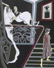 MITWISSERIN</br>Acryl auf Leinwand, 100 x 80 cm, 2004