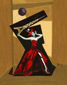 DERNIER CRI</br >Mixed media on canvas, 90 x 70 cm, 2007