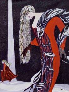 DIE FÜCHSIN</br>Acryl auf Leinwand, 80 x 60 cm, 2003
