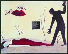 GOSSIP OF THE WASPS</br>Mixed media on paper, 50 x 64,5 cm, 2002