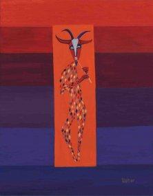 HOUR OF PAN</br >Acrylic on canvas, 90 x 70 cm, 2006