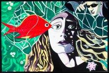 VISIT TO UNDINE</br >Acrylic on canvas, 80 x 120 cm, 2004