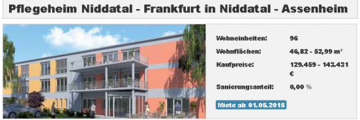 Pflegeimmobilie Niddatal - Pflegeheim Niddatal - Frankfurt in Niddatal-Assenheim