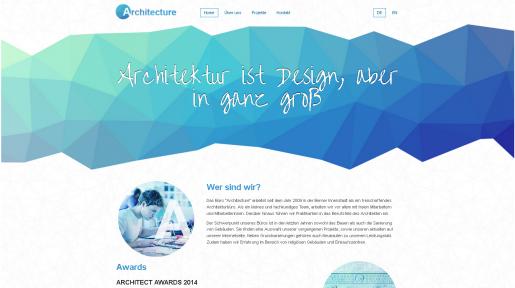 Architekt Webseite Homepage Muster Vorlage