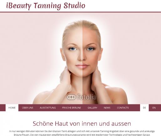 Homepage Muster Bräunungsstudio Sonnenstudio
