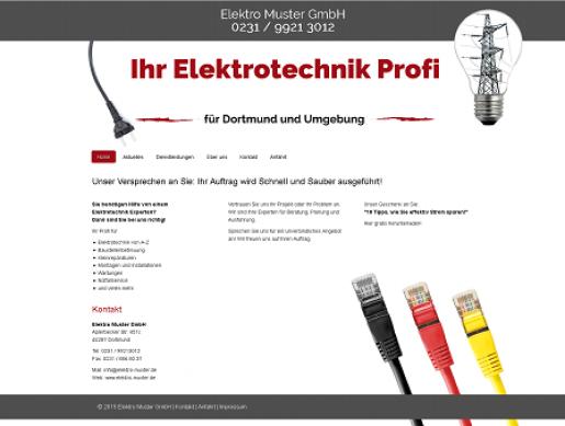 Homepage Vorlage Elektriker Elektroinstallateur Betrieb