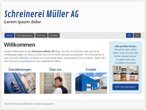 Webseiten Vorlage Handwerker wie Schreiner