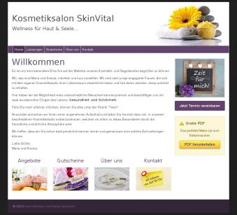 Kosmetikstudio Webseite günstig selber erstellen