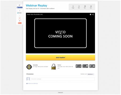 Landingpage erstellen Webinar Wiederholung Replay