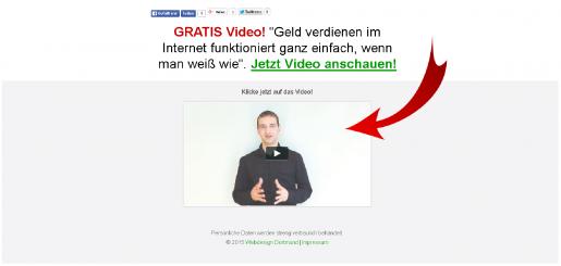 Landingpage erstellen mit Video Popup