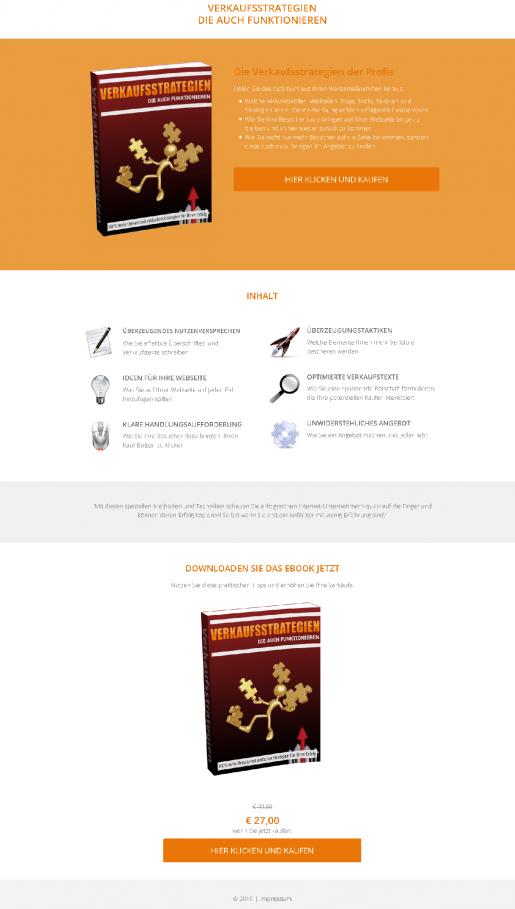 Landingpage Verkaufsseite erstellen