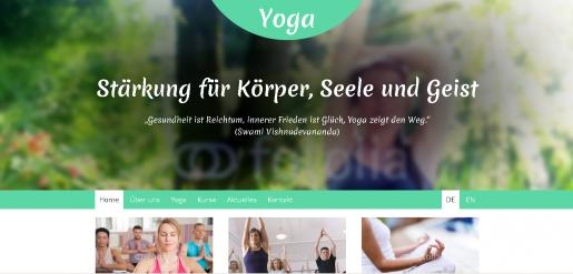 Internetseite Muster Yogalehrer Yogaverein