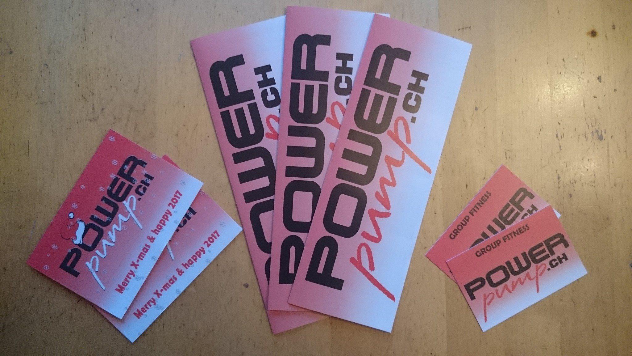 Flyer, Visitenkarte & Weihnachtskarte Pump Studio Steinen