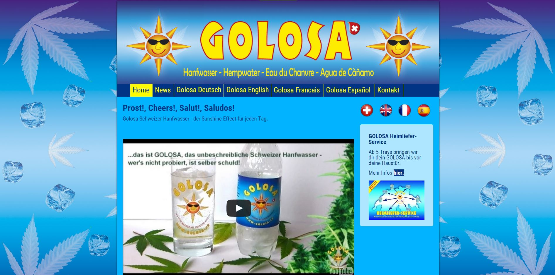 Screenshot Website www.golosa.ch - Desktop ansicht