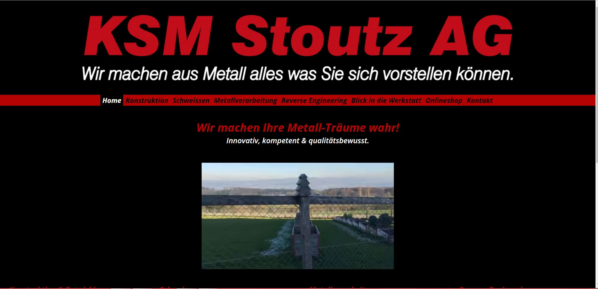 Screenshot der Website www.stoutz.ch - Ansicht Desktop