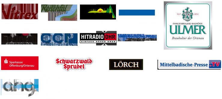 Die Sponsorenlogos von rock2beats und dem deutschen Popfestival