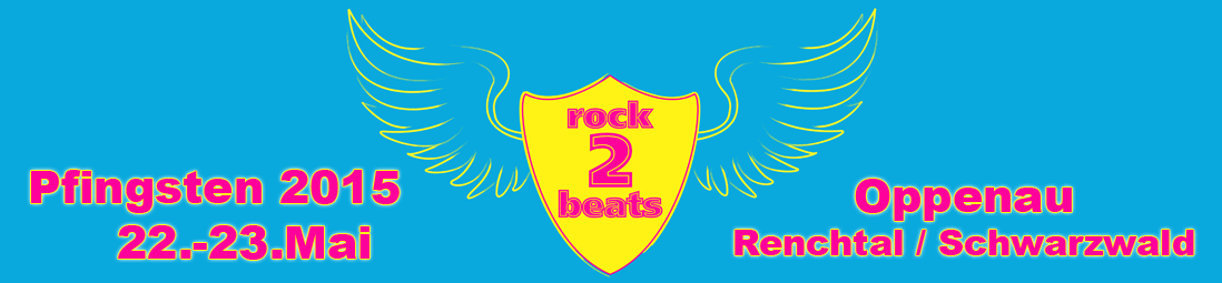 Das Logo vom Rock2beats Festival 22.-23. Mai im Renchtal in Oppenau.