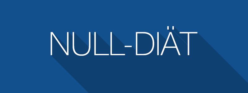 Null-Diät - Abnehmen ohne zu essen - 0-Diät