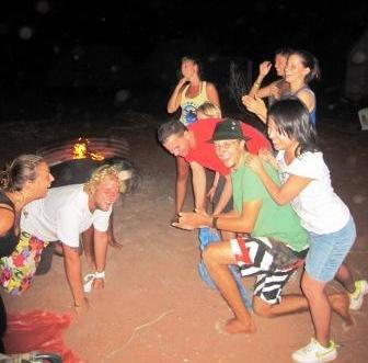 Campfire games at Corralya Station