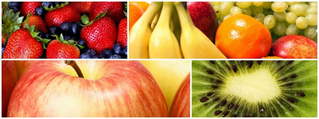 Früchte, Äpfel, Birnen, Trauben, exotische Früchte
