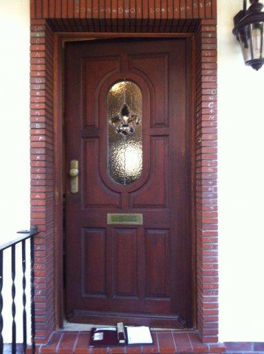 Restauration Tür vorher