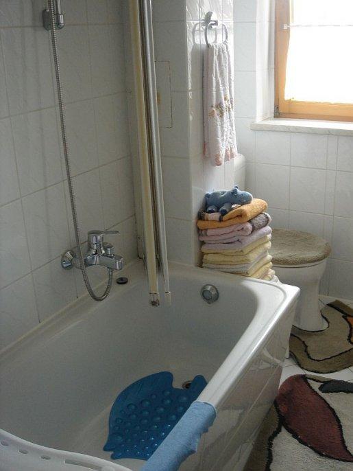Badewanne vor der Teilsanierung