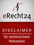 eRecht24 - Siegel - Disclaimer