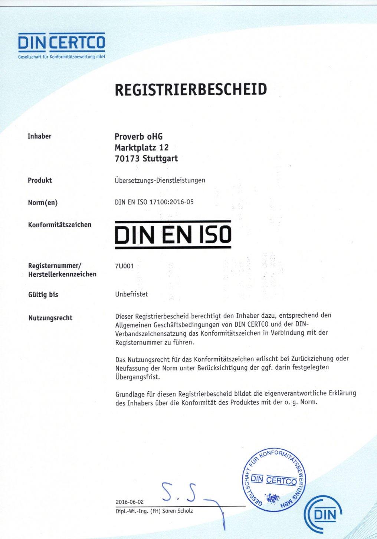 registriertes Übersetzungsbüro