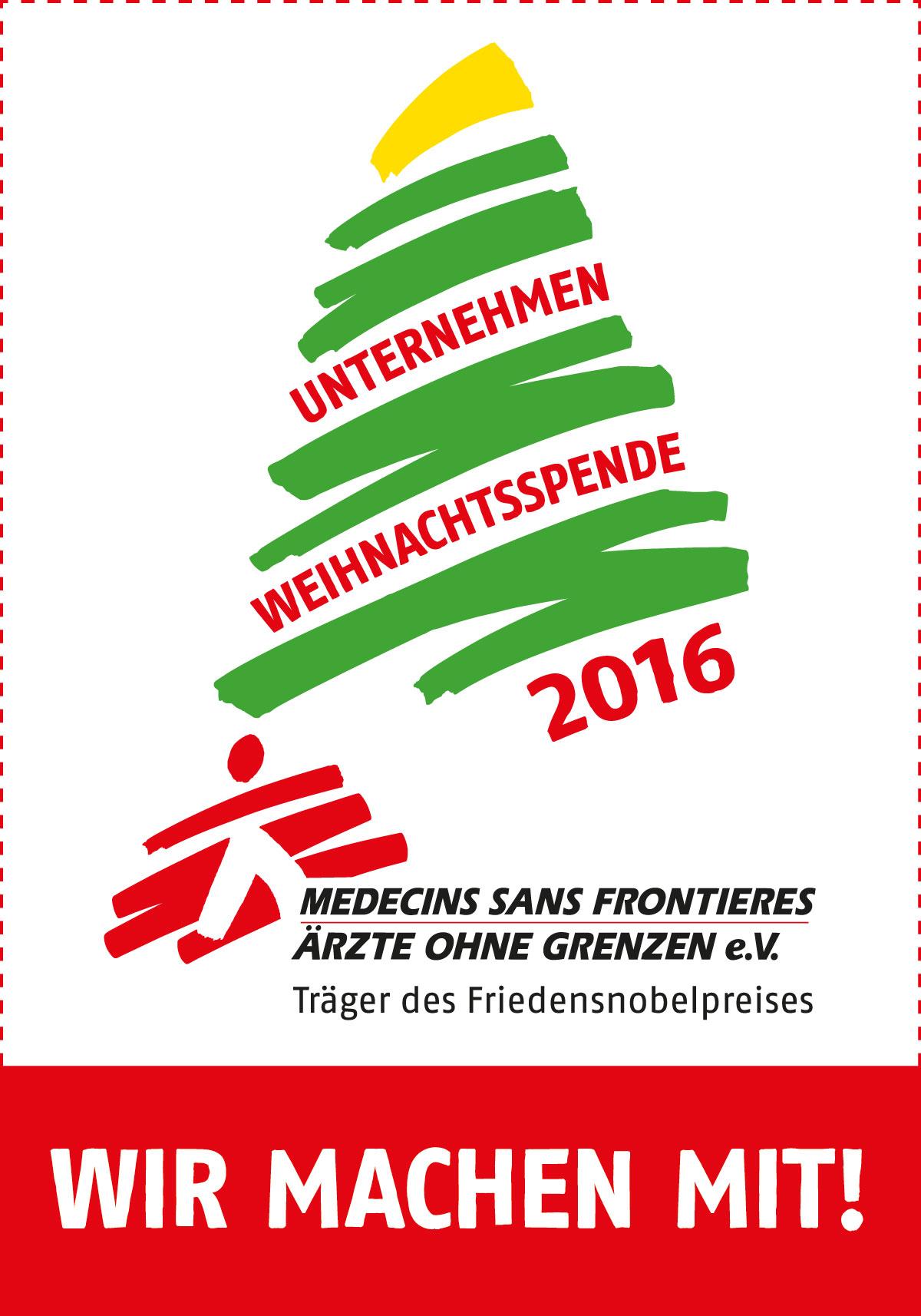 Unternehmen Weihnachtsspende 2016 - Ärzte ohne Grenzen