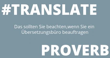 Das sollten Sie beachten, wenn Sie ein Übersetzung