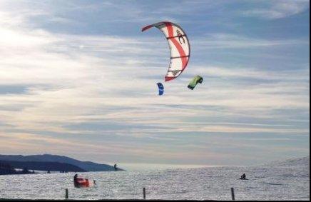 Kitsurfen auf dem Schauinsland