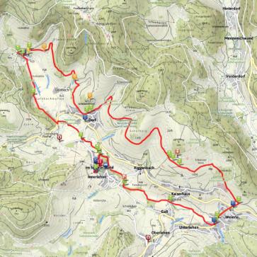Panormaweg und Albweg Bernau im Schwarzwald