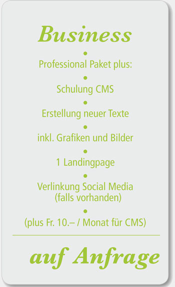 Business Webdesign Angebot