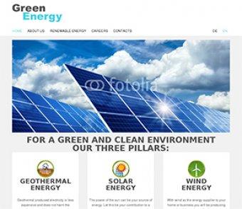 Dienstleistung - Energie Template Brachenvorlage