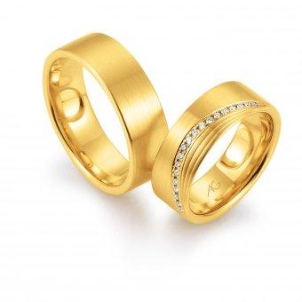 Ringe aus Gelbgold mit Brillanten
