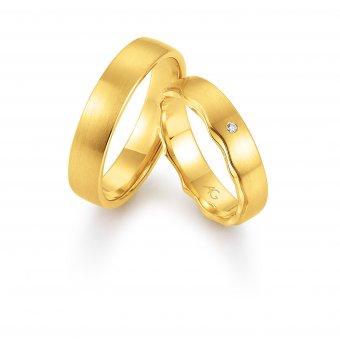 Ringe aus Gelbgold mit einem Brillanten