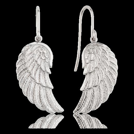 Flügel-Ohrhänger von Engelsrufer aus rhodiniertem Silber